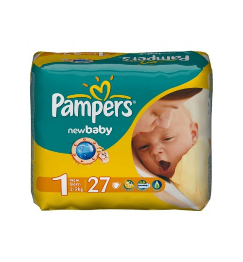 Pampers New Baby Newborn (2-5 кг)  27шт 1/6