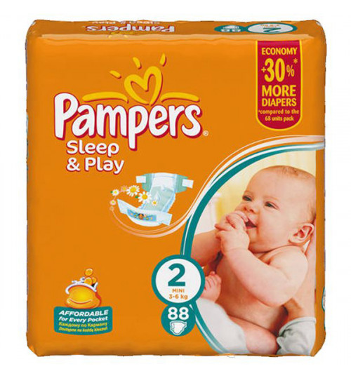 Pampers Sleep & Play мини джамбо 88шт (3-6кг) 1/2