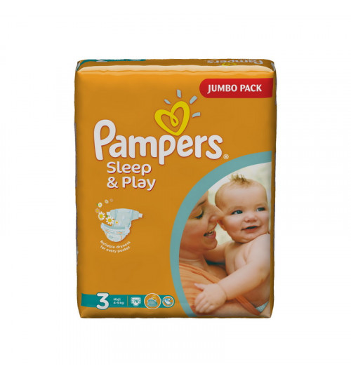 Pampers Sleep & Play миди джамбо 78шт.(4-9 кг) 1/2