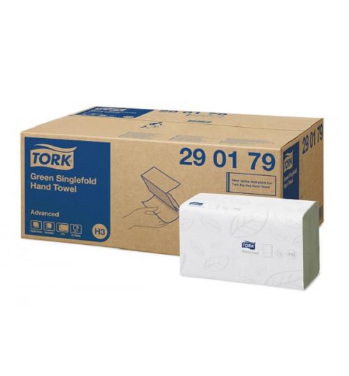 290179 Tork листовые полотенца Singlefold сложения ZZ зеленые 250 листов H3